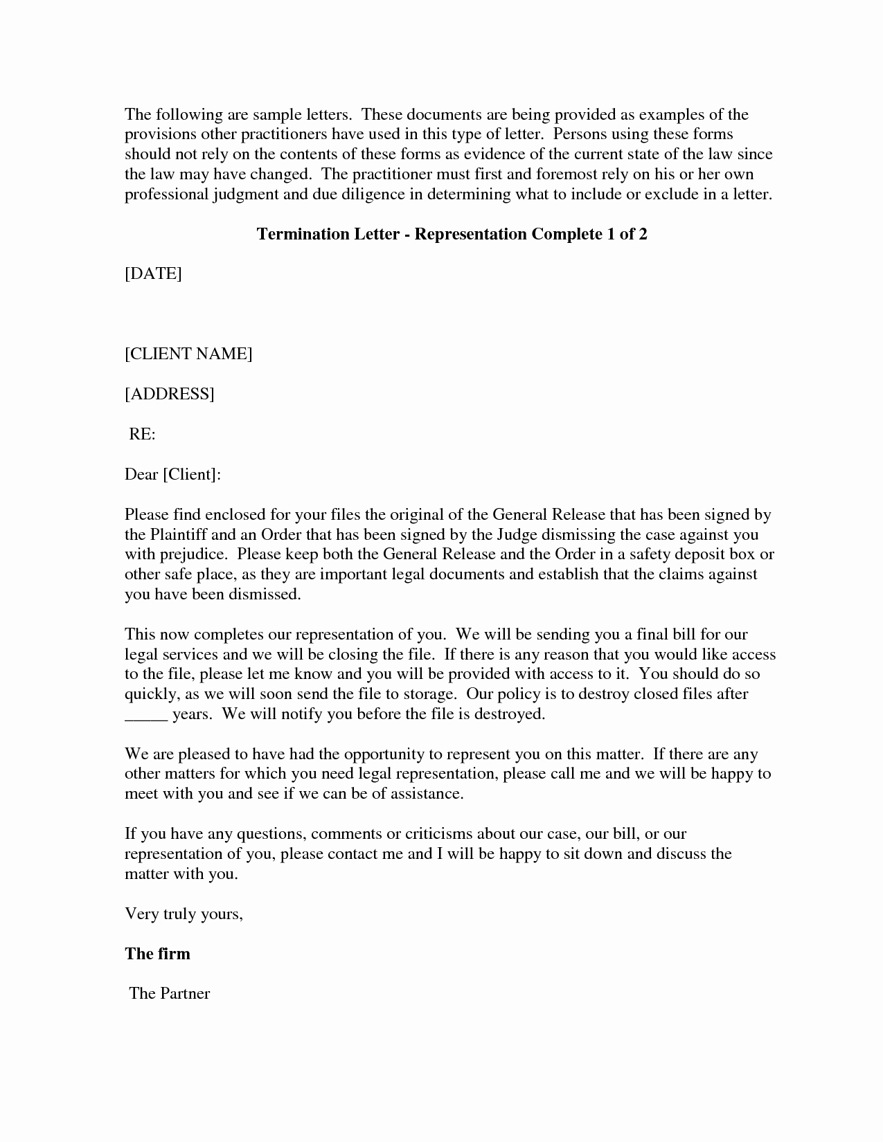 Client Termination Letter Template New Best S Of Firing A Client Letter Template Sample Letter Firing attorney Client How to