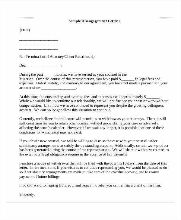 Client Termination Letter Template Unique 36 Examples Of Termination Letters