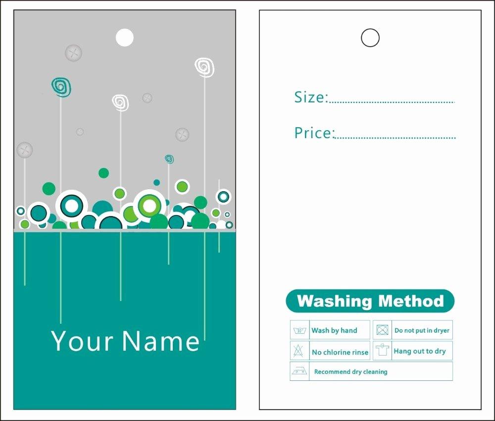 Clothing Hang Tag Template Elegant Aliexpress Buy Custom Print Hang Tags Price Label