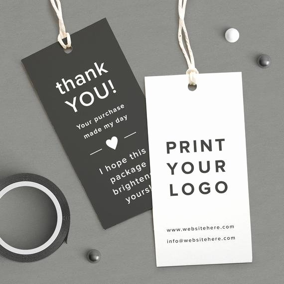 custom logo labels printed logo tag
