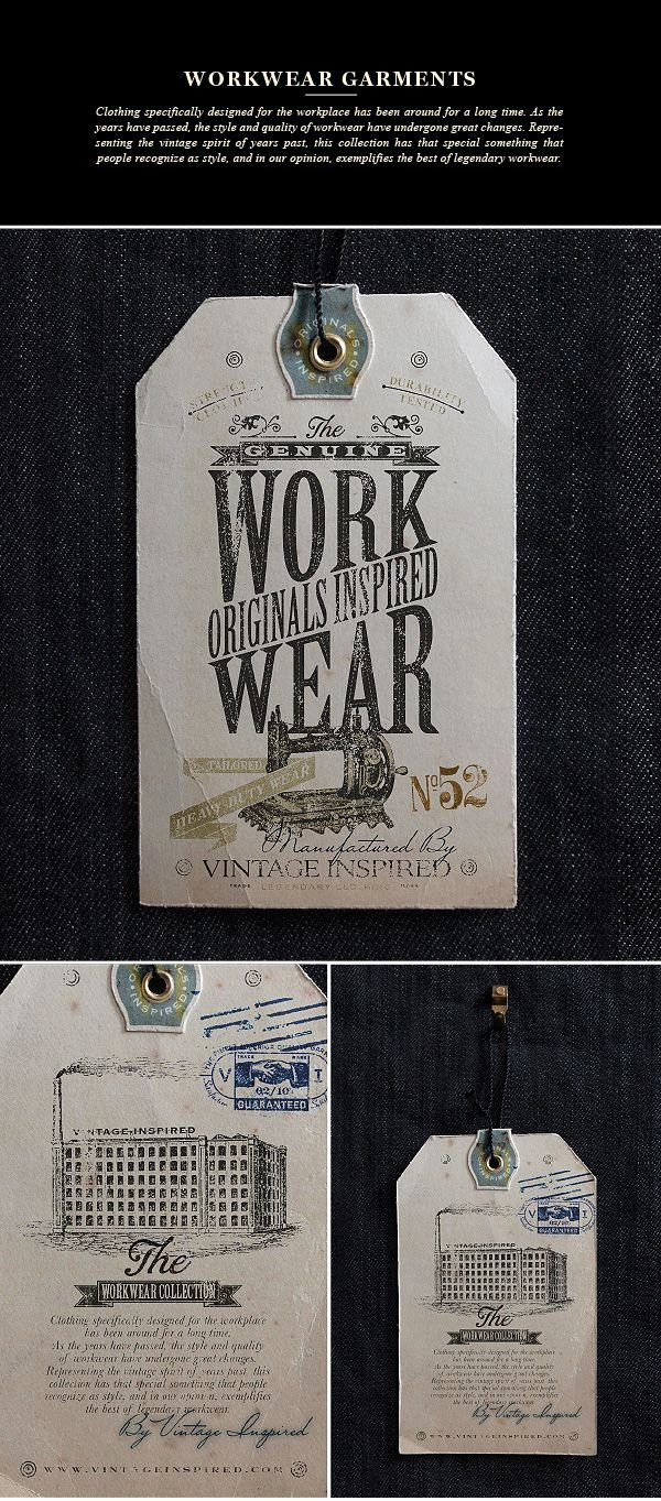Clothing Hang Tag Template Unique Vintage Inspired™ Hang Tags On Behance Old Vintage Labels