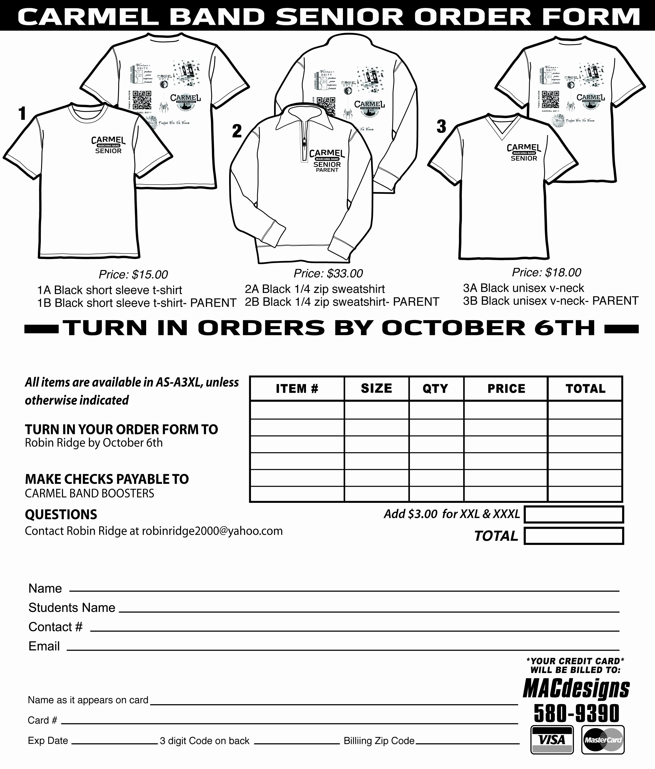 Clothing order form Template Inspirational T Shirt order form Template