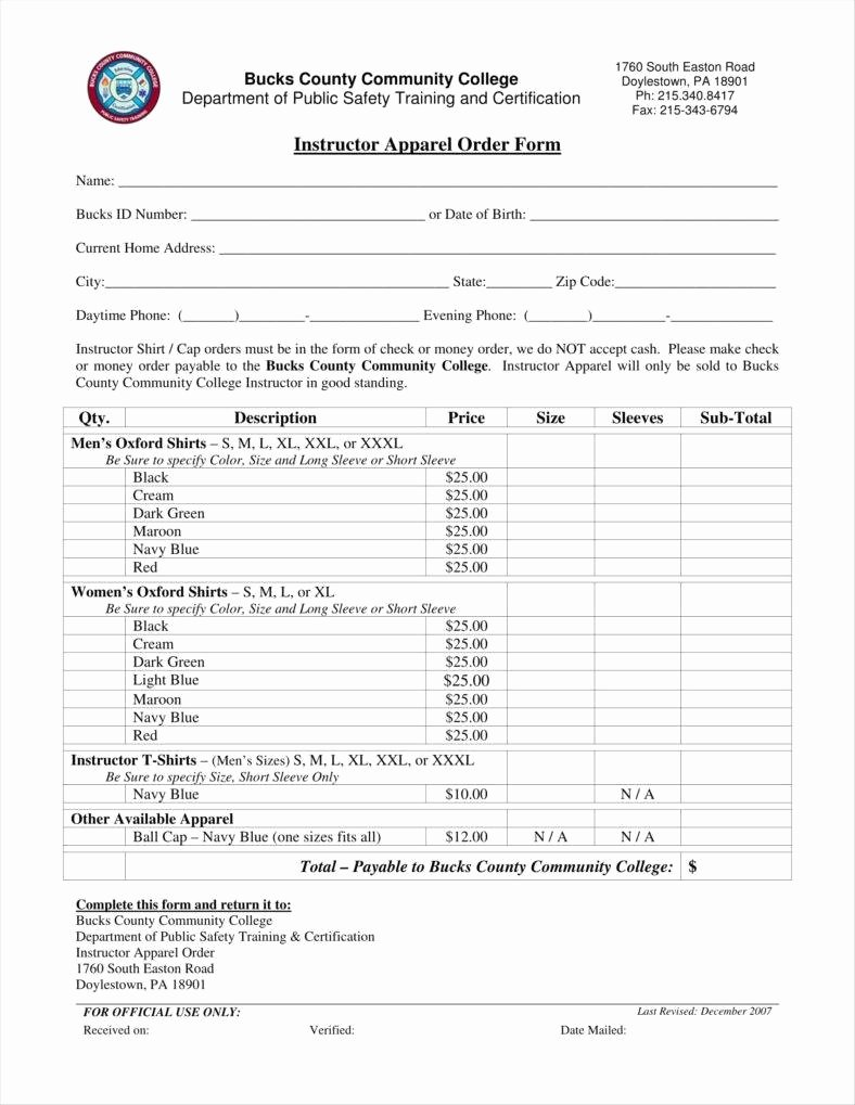 Clothing order forms Templates Best Of 9 Apparel order form Templates No Free Word Pdf Excel format Download