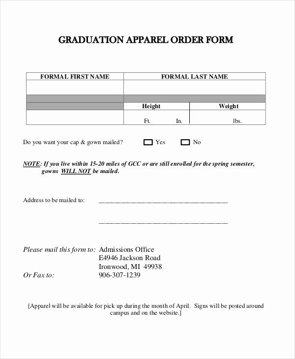 Clothing order forms Templates Elegant 12 Apparel order forms Free Sample Example format Download