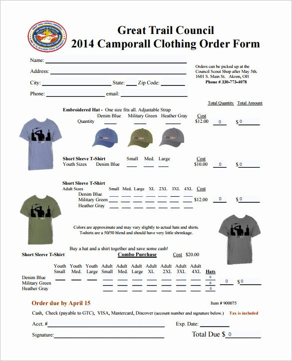 Clothing order forms Templates Luxury order form Template – 27 Free Word Excel Pdf Documents Download