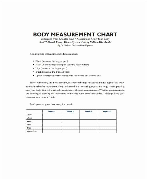 Clothing Size Chart Template Awesome 17 Clothing Size Chart Templates Word Excel formats