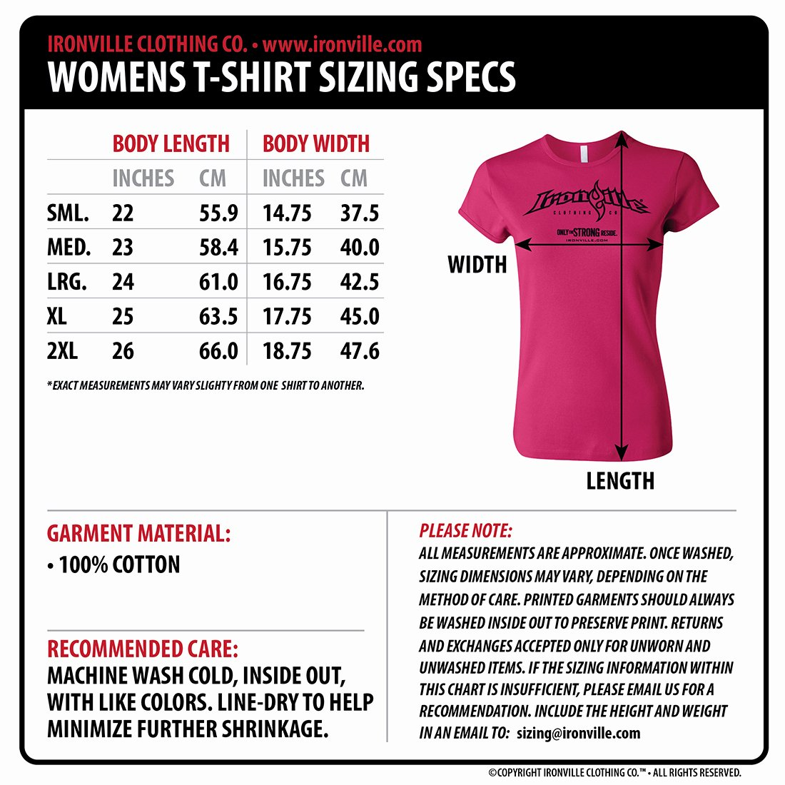 Clothing Size Chart Template Luxury Got A Pair Womens Fitness T Shirt