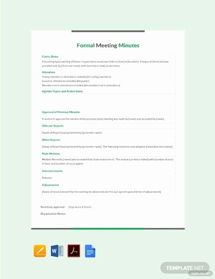 Club Meeting Minutes Template Beautiful 108 Free Meeting Minutes Templates Pdf Word Google Docs Apple Pages