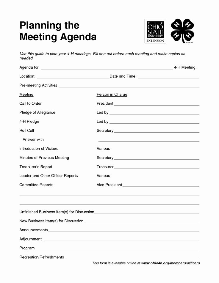 Club Meeting Minutes Template Fresh 494 Best Images About 4 H Club On Pinterest