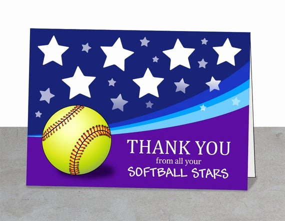 Coach Thank You Cards Awesome softball Coaches Gifts Thank You Cards softball Card