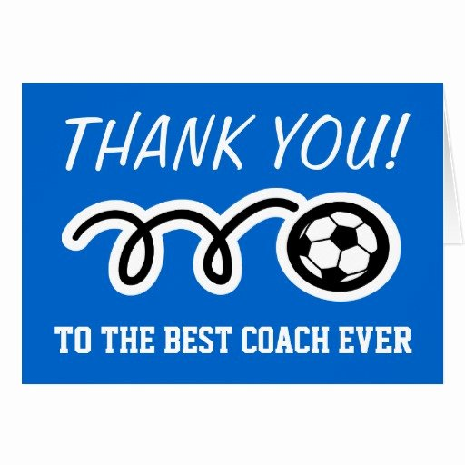 Coach Thank You Cards Awesome Thank You Cards for soccer Coach Customizable