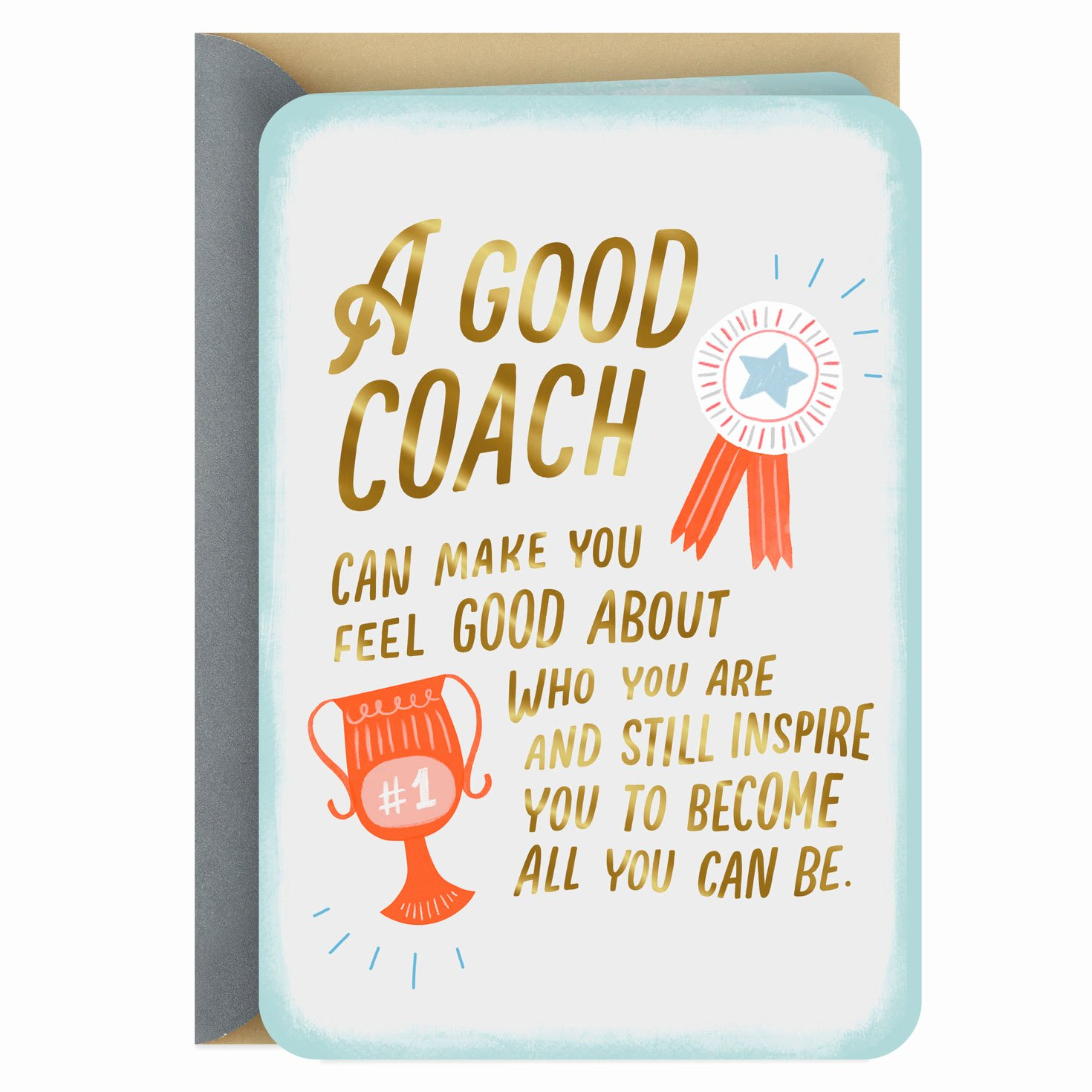 Coach Thank You Cards Beautiful A Coach who Supports and Inspires Thank You Card Greeting Cards Hallmark