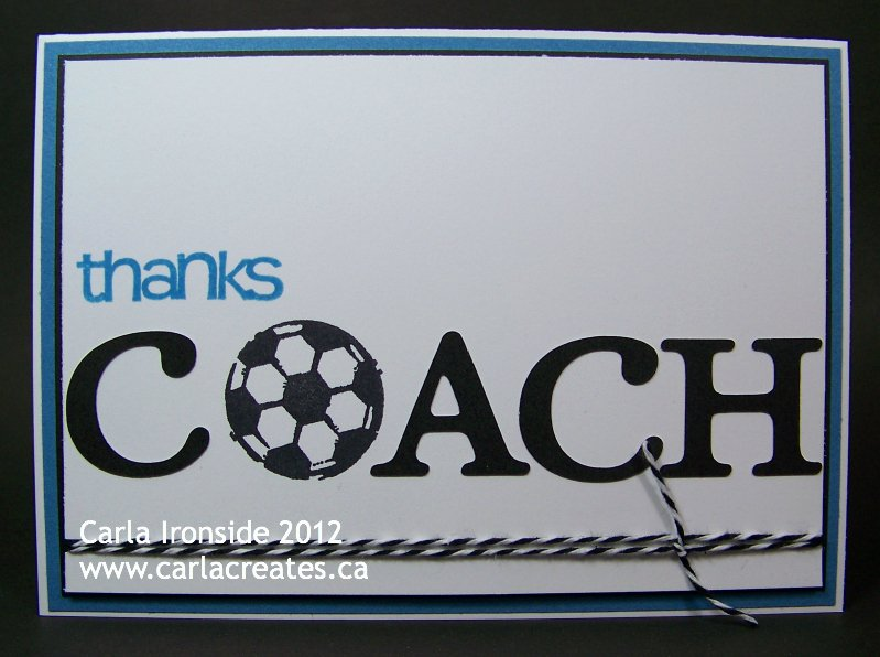 Coach Thank You Cards Beautiful Carla Creates Coach Thank You Card