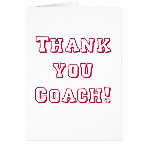 Coach Thank You Cards Beautiful Simple Thank You Coach Card
