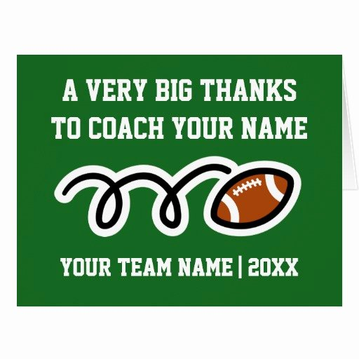 Coach Thank You Cards Fresh Big Oversized Thank You Card for Football Coach