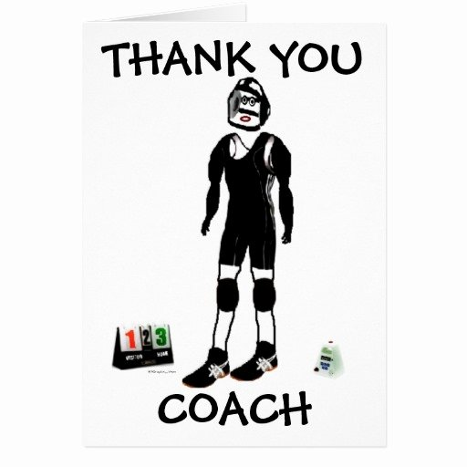 Coach Thank You Cards Fresh Thank You Wrestling Coach Card