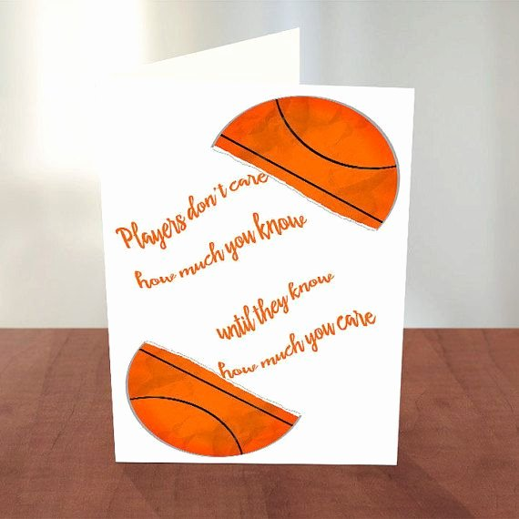 Coach Thank You Cards Inspirational Thank You Coach Basketball Coach Coach Card Thanks Coach Team Card Thank You Card for
