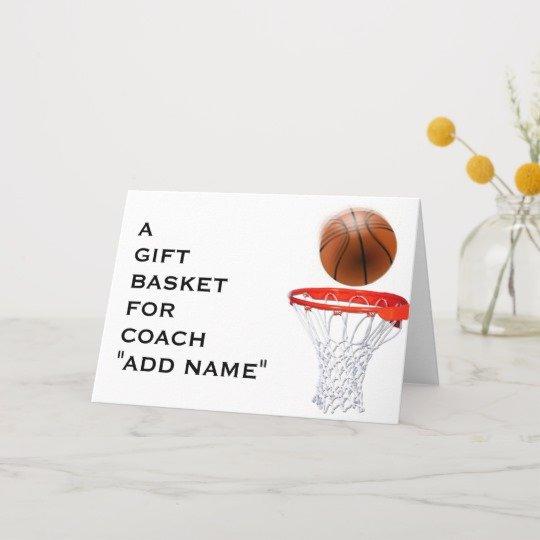 Coach Thank You Cards Lovely Basketball Coach Thank You Card