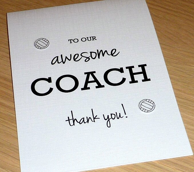 Coach Thank You Cards Luxury Awesome Coach or Teacher Thank You Card