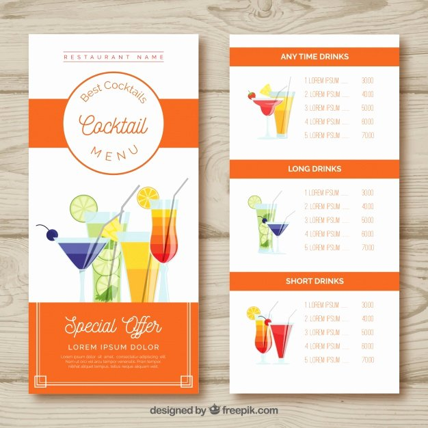 Cocktail Menu Template Free Awesome Umbrella Vectors S and Psd Files