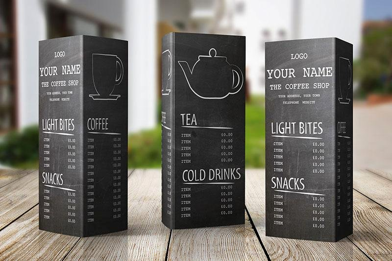 Coffee Shop Menu Template Awesome Free Menu Design Template