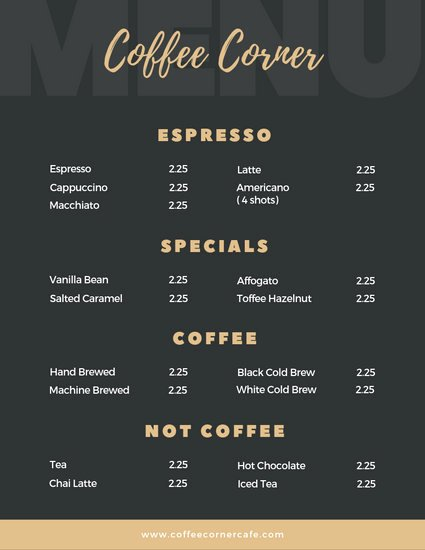 Coffee Shop Menu Template Best Of Customize 88 Cafe Menu Templates Online Page 3 Canva