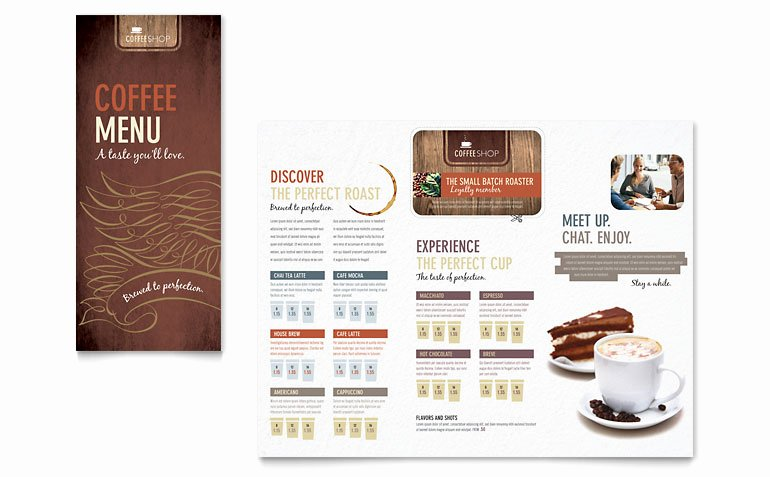 Coffee Shop Menu Template Fresh Coffee Shop Menu Template Word & Publisher