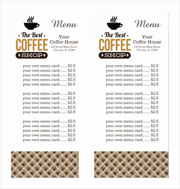 Coffee Shop Menu Template Inspirational 20 Coffee Menu Templates – Free Sample Example format Download
