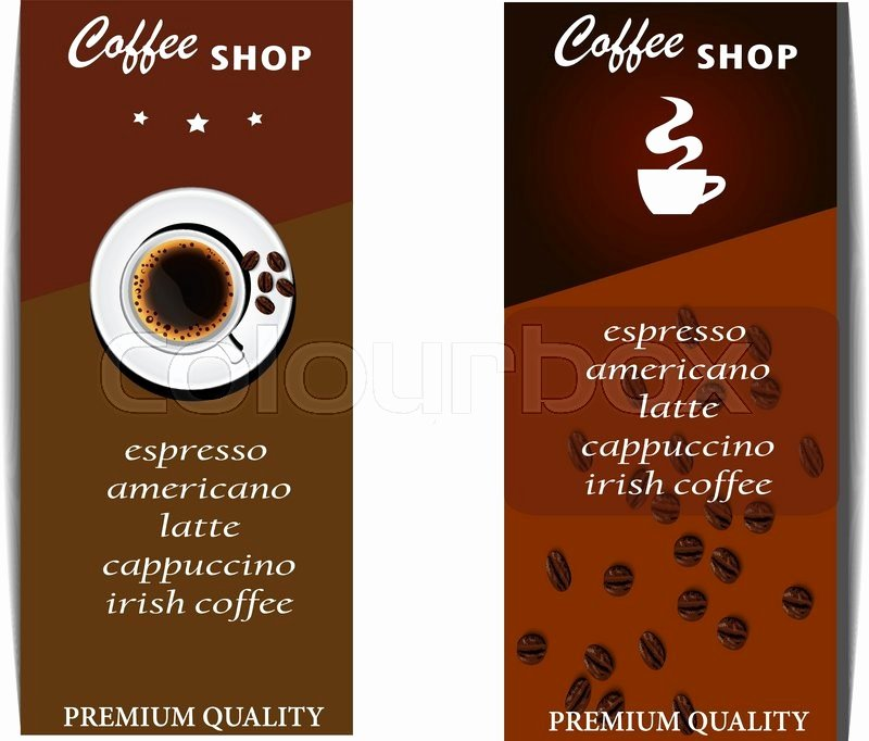 Coffee Shop Menu Template Lovely the Coffee Shop Menu Template Menu Design Stock Vector