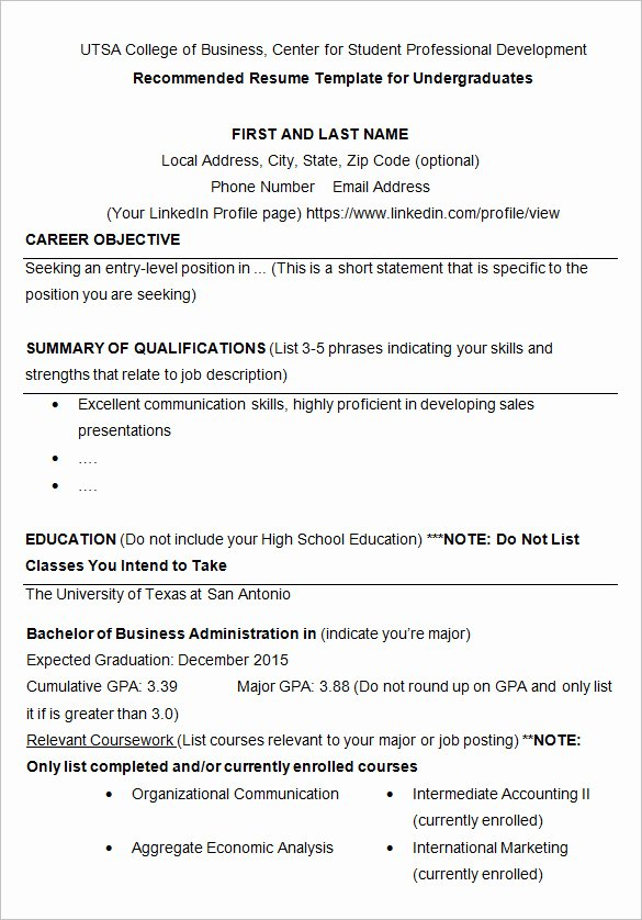 College Freshman Resume Template Inspirational 24 Best Student Sample Resume Templates Wisestep