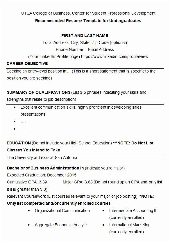 College Freshman Resume Template Inspirational 24 Best Student Sample Resume Templates Wisestep