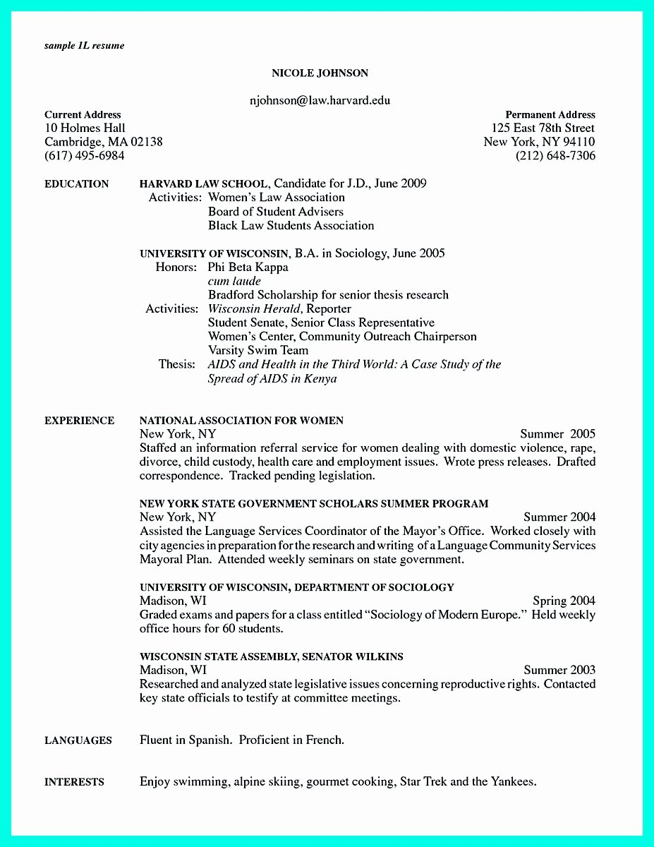 write properly ac plishments college application resume