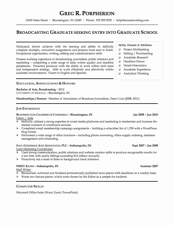 College Freshman Resume Template New Curriculum Vitae Curriculum Vitae College Student