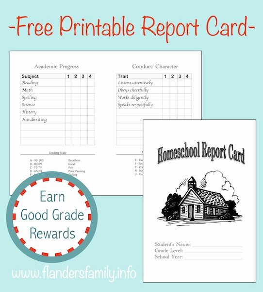 College Report Card Template Awesome Homeschool Report Cards Flanders Family Homelife