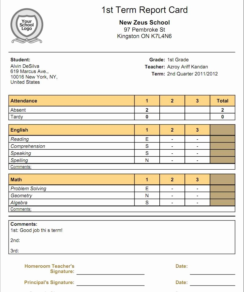 College Report Card Template Beautiful What is the Relationship Between Gradebooks and Report Cards