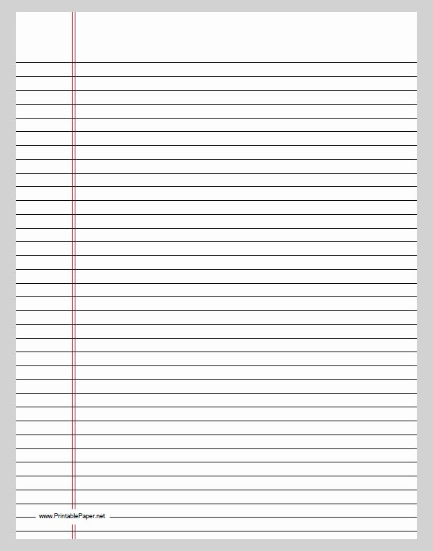 College Rule Notebook Paper Awesome Word Template Category Page 2 Vinotique