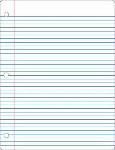 College Ruled Notebook Paper Fresh Lined Paper 6 Actual Size Image