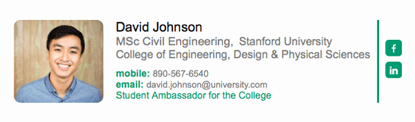 College Student Email Signature Awesome Email Signatures for University College and School Students Newoldstamp