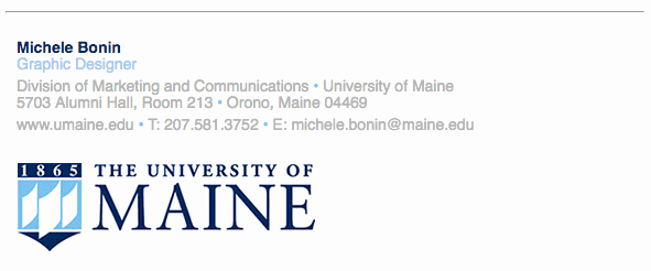 College Student Email Signature Inspirational Email Signature Branding toolbox University Of Maine