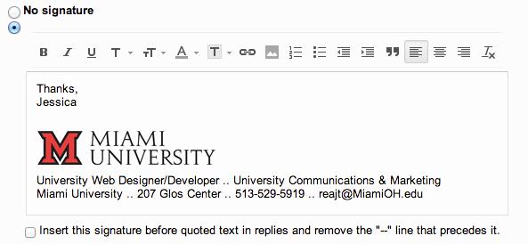 College Student Email Signature Unique Add the Miami Logo to Your Email Signature Miami University