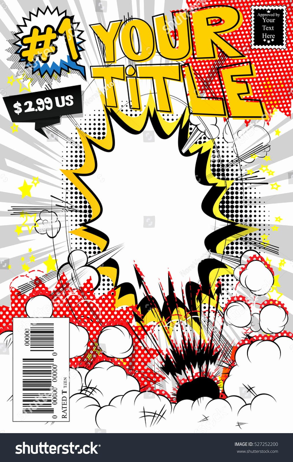 Comic Book Cover Template Awesome Editable Ic Book Cover Stock Vector Shutterstock