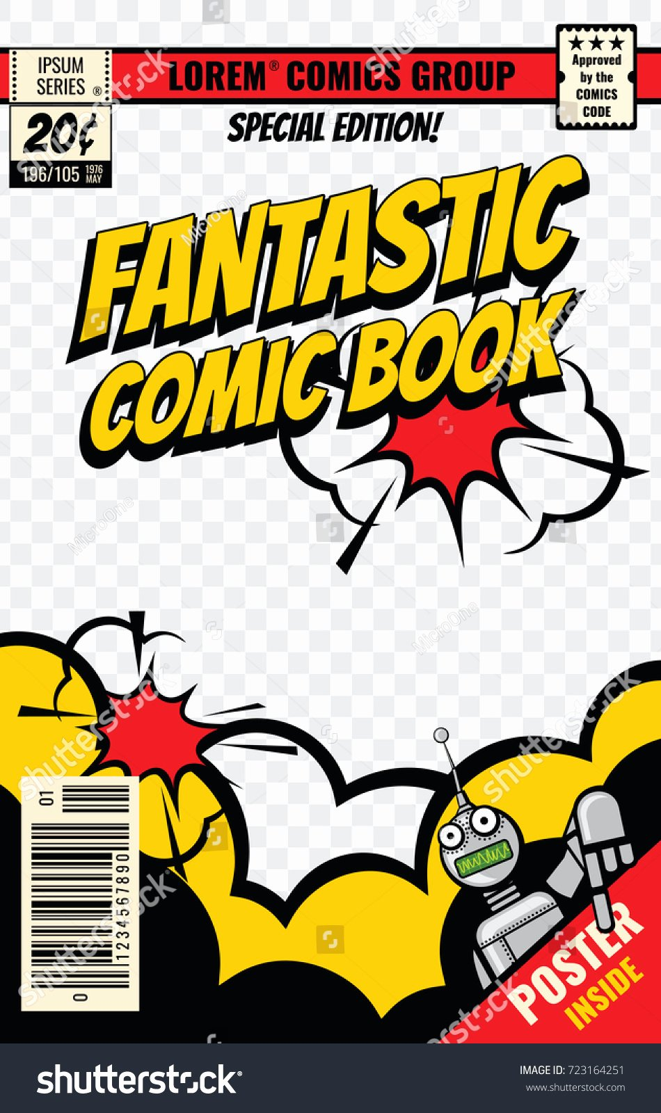 Comic Book Cover Template Beautiful Ic Book Cover Vector Template Ic Stock Vector Shutterstock