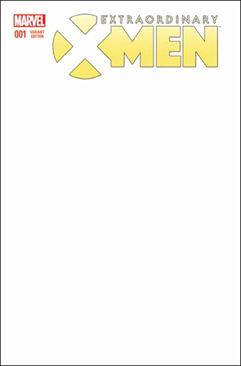 Comic Book Cover Template Best Of Extraordinary X Men 1 Blank Variant Cover [2016] Vf Nm Marvel Ics