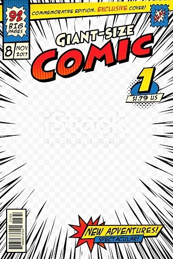 Comic Book Cover Template Best Of Ic Book Cover Template Art Conceptual Stock Vector Art & More Of Art