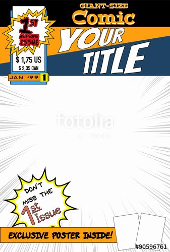 "Comic Book Cover Template Best Of ""editable Ic Book Cover with Blank Space "" Stock Image and Royalty Free Vector Files On"