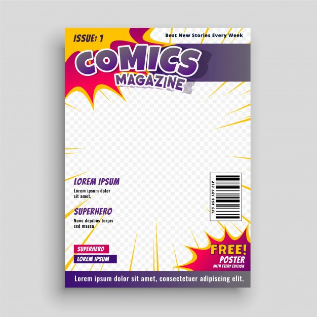 Comic Book Cover Template Elegant Ic Book Vectors S and Psd Files