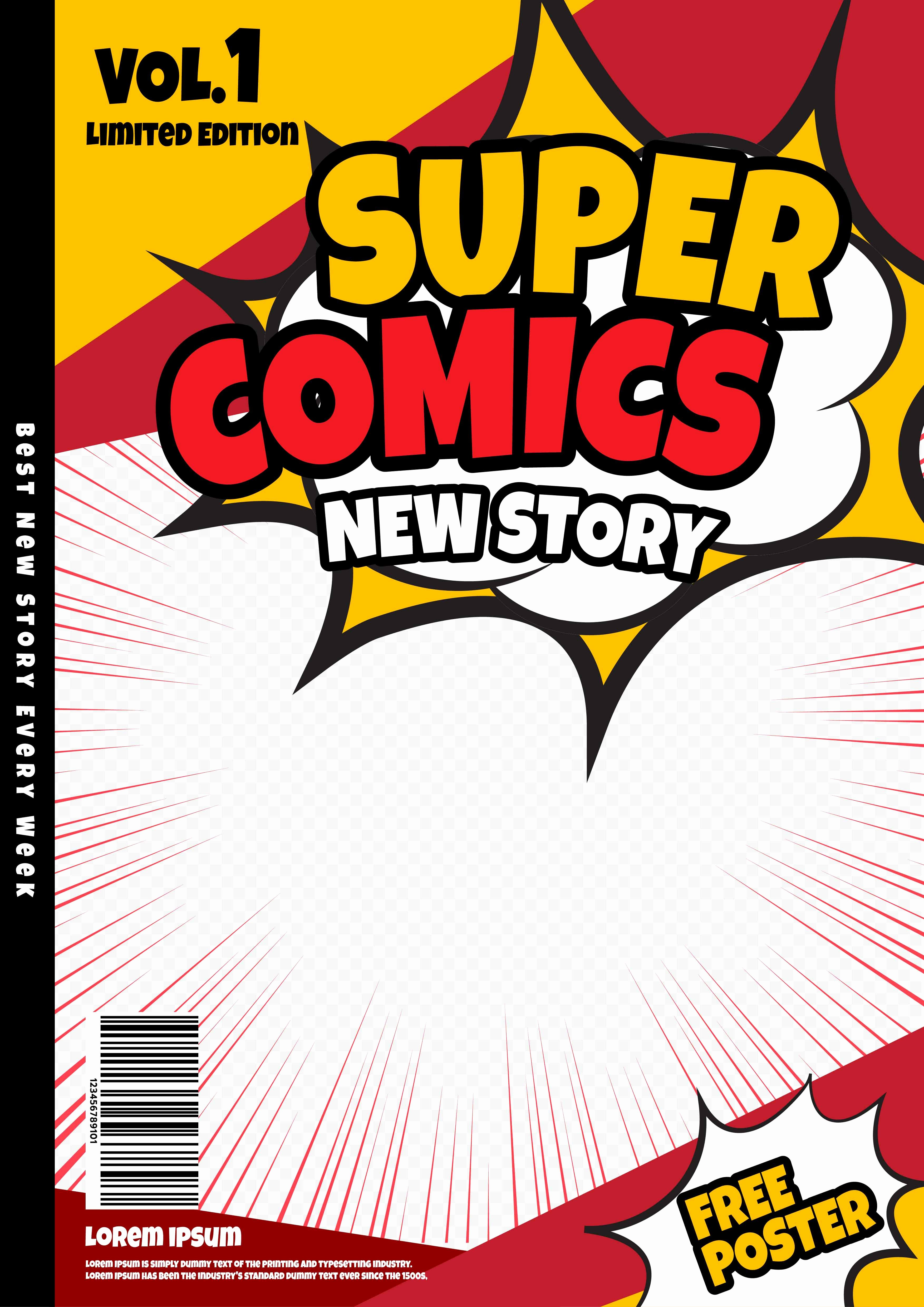 Comic Book Cover Template Inspirational Ic Book Page Template Design Magazine Cover Vector Download Free Vector Art Stock