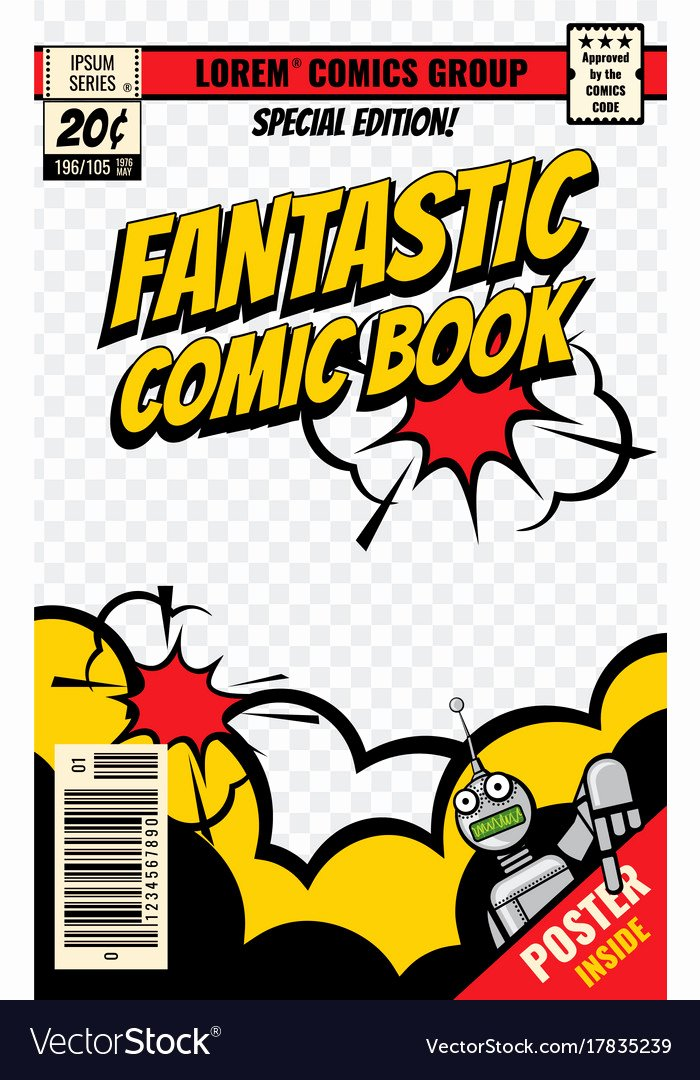 Comic Book Cover Template Luxury Ic Book Cover Template Royalty Free Vector Image