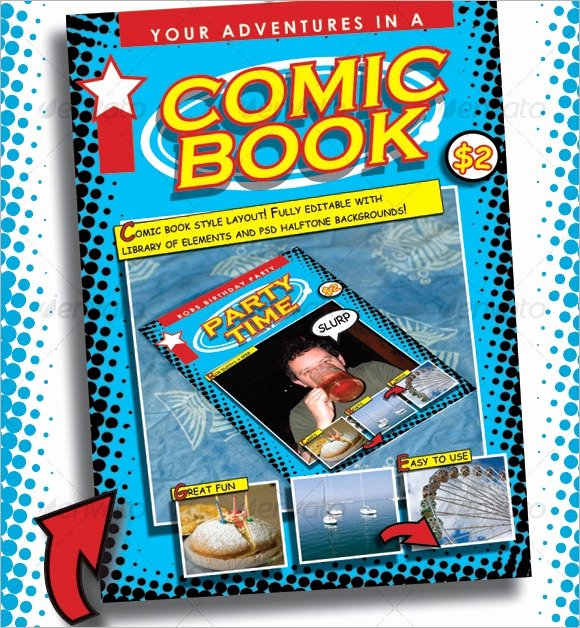 Comic Book Cover Template New Free 7 Ic Book Samples In Pdf