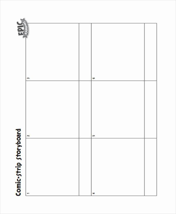 Comic Strip Template Word Awesome 7 Ic Storyboard Examples In Word Pdf